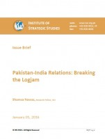 Pakistan-India Relations: Breaking the Logjam