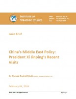 China's Middle East Policy: President Xi Jinping's Recent Visits