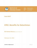 CPEC: Benefits for Balochistan