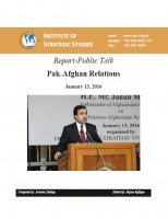Report of Public Talk on Pak-Afghan Relations