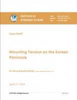 Mounting Tension on the Korean Peninsula