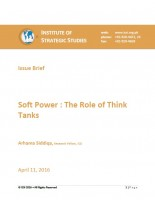 Soft Power: The Role of Think Tanks