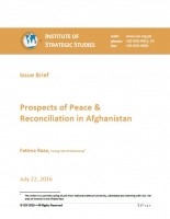 Issue Brief  on Prospects of Peace & Reconciliation in Afghanistan