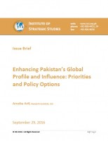 Issue Brief on Enhancing Pakistan's Global Profile and Influence: Priorities and Policy Options