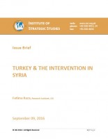 ISSUE BRIEF ON TURKEY & THE INTERVENTION IN SYRIA