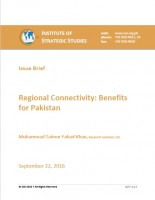 Issue Brief on Regional Connectivity: Benefits for Pakistan