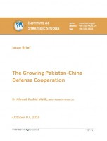 Issue Brief on The Growing Pakistan-China Defense Cooperation