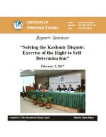 "Report- Seminar on ""Solving the Kashmir Dispute: Exercise of the Right to Self-Determination"""