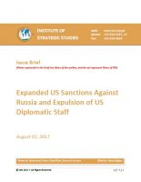 Issue Brief on Expanded US Sanctions against Russia and Expulsion of US Diplomatic Staff