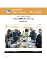 Report- In-House meeting CIISS-ISSI Bilateral Dialogue