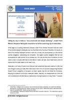 Issue Brief on Netanyahus India Visit: Coming Out of the Closet