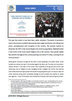 Issue Brief on Public Protests in Iran 2017-18: Rouhani's Test or Triumph?