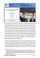 Issue Brief on A Thaw in North Korea and South Korea Relations