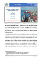 Issue Brief on Analyzing the Upward Trend in Pakistan's Exports to EU