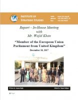 Report – In-House Meeting with Mr. Wajid Khan, Member of the European Union Parliament from UK