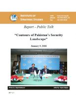 "Report – Public Talk on ""Contours of Pakistan's Security Landscape"""