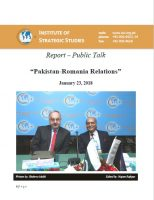 "Report – Public Talk on ""Pakistan-Romania Relations"""