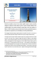 Issue Brief on Russias New Anti Missile Defense Systems
