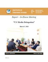 Report a�� In-House Meeting on a�?US Media Delegationa�?