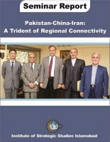 Seminar Report on Pakistan-China-Iran: A Trident of Regional Connectivity