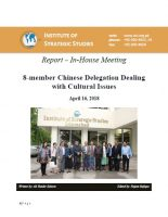 Report – In-House Meeting 8-member Chinese Delegation Dealing with Cultural Issues