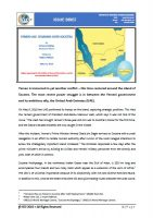 Issue Brief on Yemen-UAE: Sparring Over Socotra