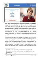 Issue Brief on Germany: Between Two Competing Narratives