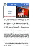 Issue Brief on The US-China Trade War 2018