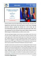 Issue Brief on Assessment of US-Russia Arms Control Post Helsinki