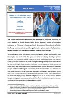Issue Brief on UNRWA: US Cut in Funding Leaves Palestinian Refugees in a Lurch
