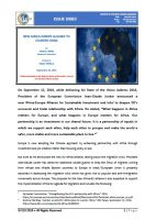 Issue Brief o New Africa-Europe Alliance to Counter China