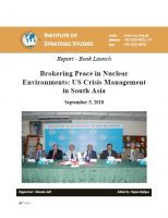 Report - Book Launch on Brokering Peace in Nuclear Environments: US Crisis Management in South Asia
