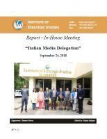 "Report - In-House Meeting with ""Italian Media Delegation"""