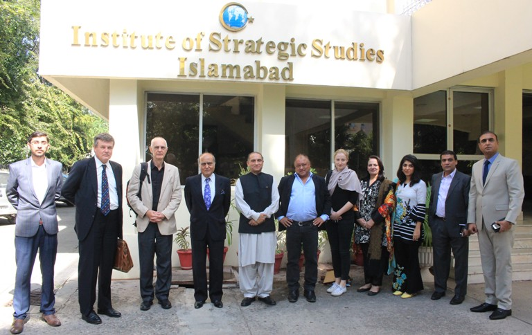 In-house meeting with 4-member Media Delegation from UK at ISSI.