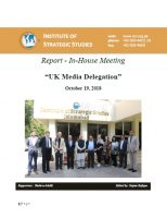 Report - In-House Meeting UK Media Delegation