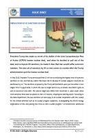 Issue Brief on Implications of US Sanctions on Iran