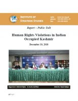 Report – Public Talk on Human Rights Violations in Indian Occupied Kashmir