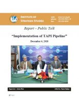 Report – Public Talk on Implementation of TAPI Pipeline