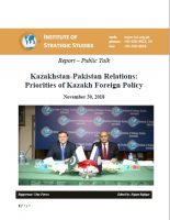 Report – Public Talk on Kazakhstan-Pakistan Relations: Priorities of Kazakh Foreign Policy