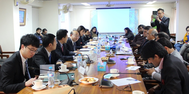 In-house meeting with a 4-member Chinese delegation from China Council for BRICS Think Tank Cooperation