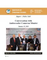 Conversation with Ambassador Cameron Munter