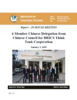 Report – In-house meeting with a 4-Member Chinese Delegation from Chinese Council for BRICS Think Tank Cooperation