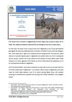 Issue Brief on US Drawdown in Afghanistan and Indias Reaction