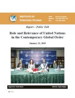Report – Public Talk on Role and Relevance of United Nations in the Contemporary Global Order