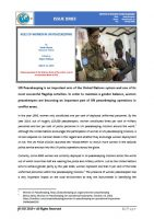 Issue Brief on Role of Women in UN Peacekeeping