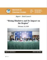 "Report - Book Launch on ""Rising Hindutva and Its Impact on the Region"