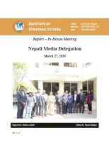 Report – In-House Meeting Nepali Media Delegation