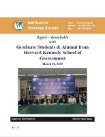 Report – Roundtable with Graduate Students & Alumni from Harvard Kennedy School of Government