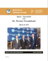Report – Roundtable with  Dr. Werner Fassalabend