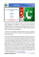 Issue Brief on FATF's Aggressive Campaign Against Pakistan